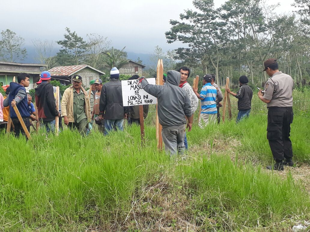 Pengadilan Negeri Kabanjahe eksekusi objek di Desa Peceren