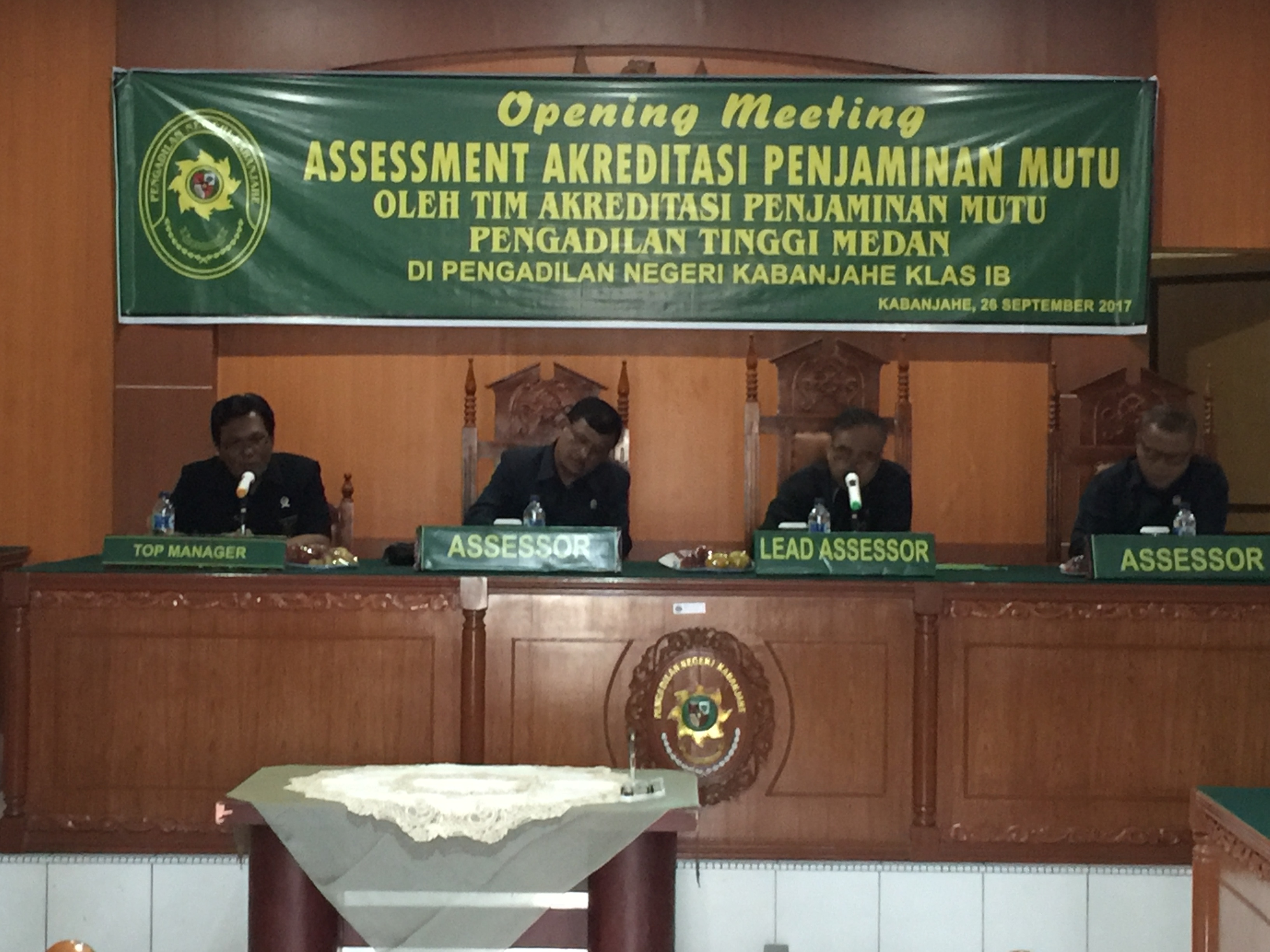 Opening Meeting Penilaian Akreditasi Pengadilan Negeri Kabanjahe