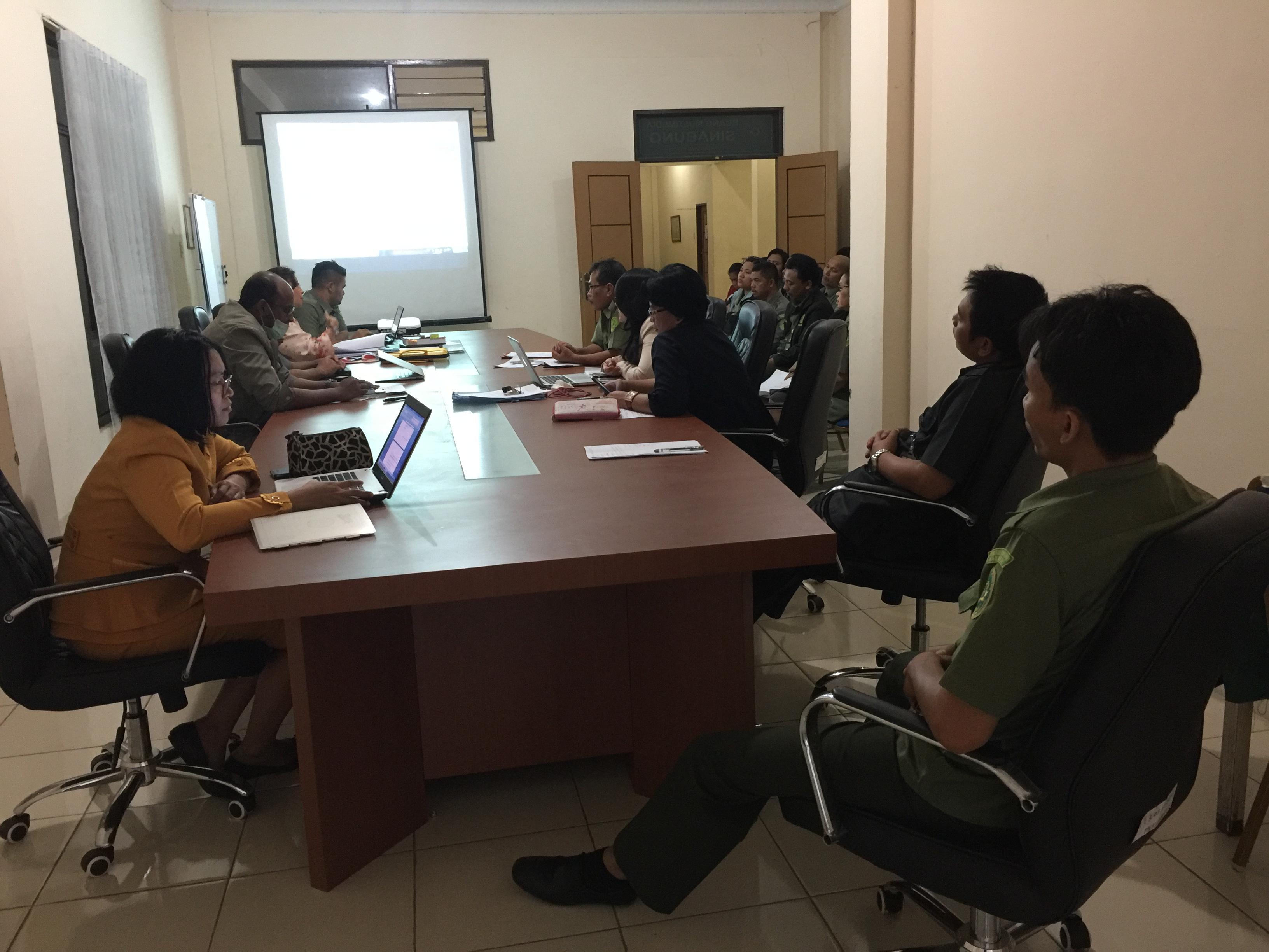 Rapat Bulan Oktober Pengadilan Negeri Kabanjahe Tahun 2016