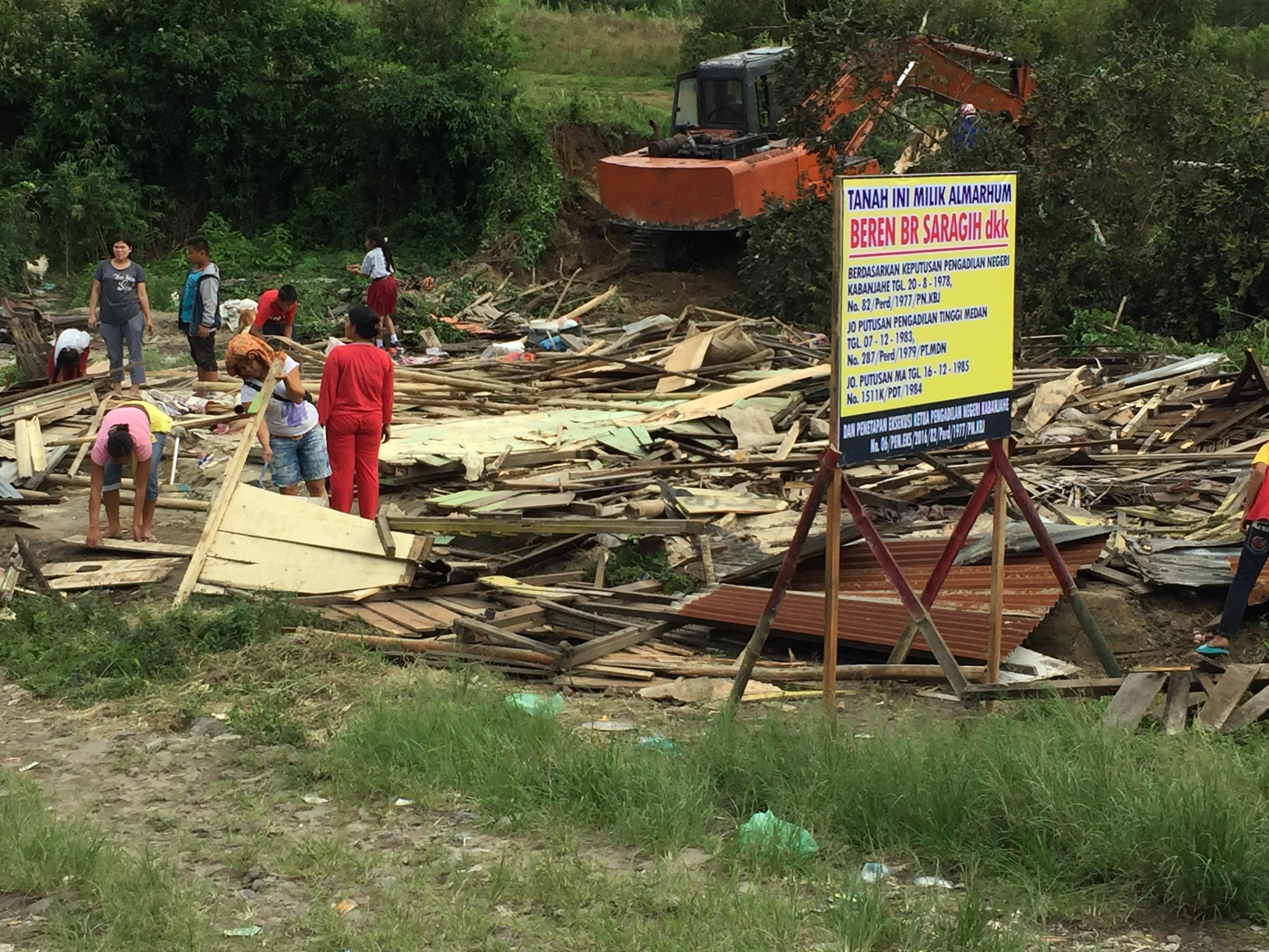 Pengadilan Negeri Kabanjahe eksekusi objek tanah di laoda