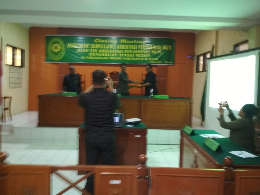 Closing Meeting Survelliance Pengadilan Tinggi Medan