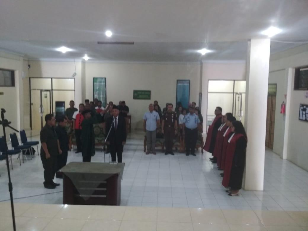 Pelantikan Pengadilan Negeri Kabanjahe A.N. Asrin Sembiring,SH
