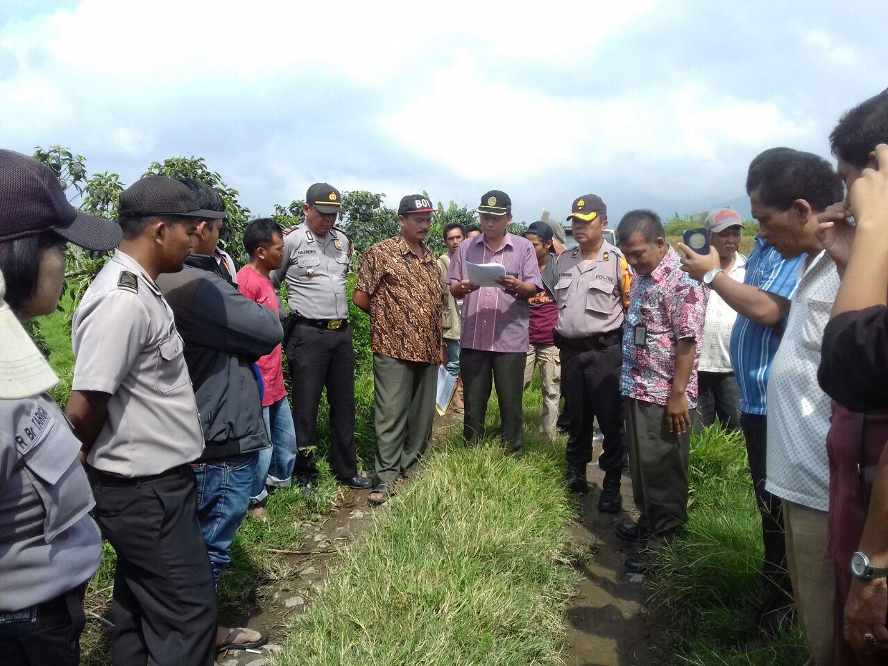 Pengadilan Negeri Kabanjahe Eksekusi Objek di Desa Jumaraja