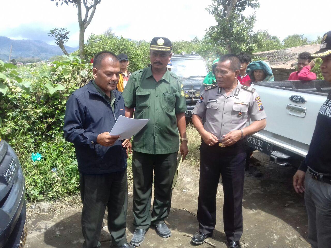 Pengadilan Negeri Kabanjahe eksekusi objek di Desa Gurusinga dan Kelurahan Gundaling II
