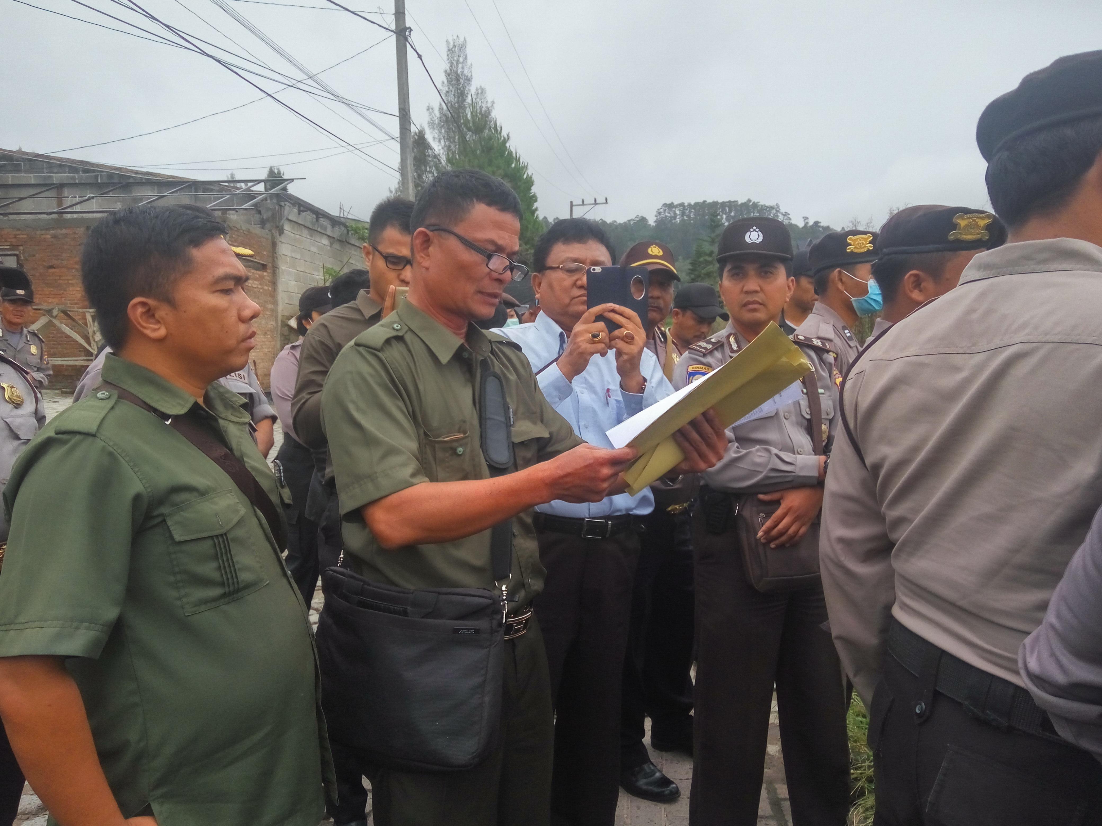 Pengadilan Negeri Kabanjahe eksekusi objek di desa sempajaya