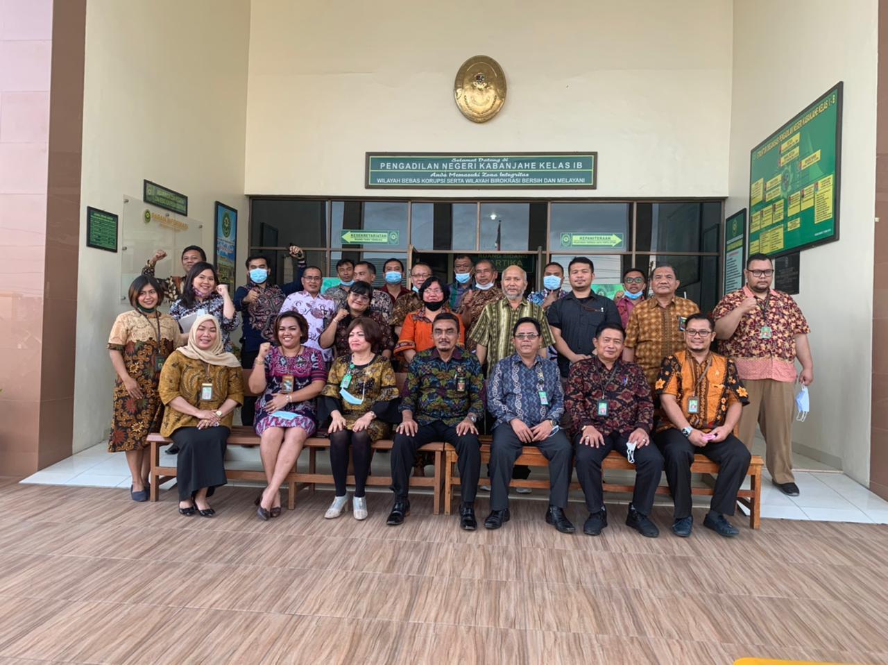 Pembinaan Ketua Pengadilan Tinggi Medan dan Tim Pada Pengadilan Negeri Kabanjahe