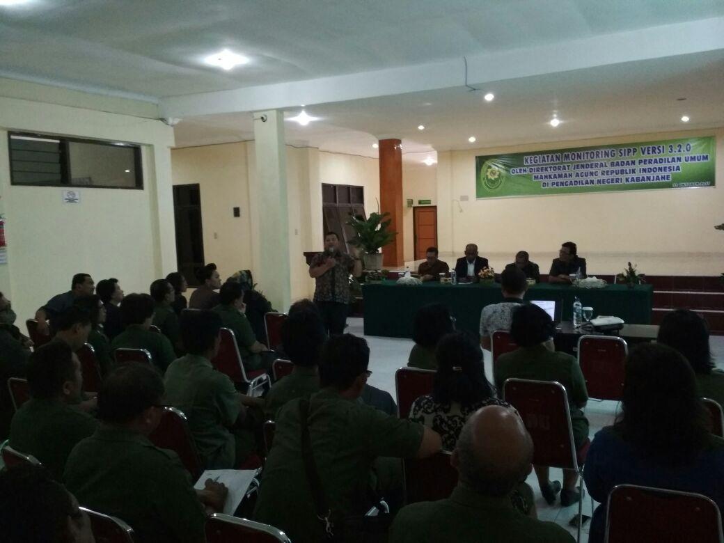 Kunjungan Tim BADILUM Dalam Rangka Mentoring SIPP 3.2.0